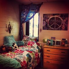 Dorm room from the residence hall I'm gonna be in this year!