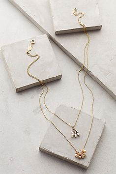 Anthropologie PETAL & BUD LAYERED NECKLACE #anthrofave