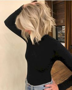 The most perfect bob gets the most perfect blonde! The most perfect bob gets the most perfect blonde! The most perfect bob gets the most perfect blonde! The most perfect bob gets the most perfect blonde! Medium Hair Styles, Short Hair Styles, Blonde Hair Styles Medium Length, Style Short Hair, Medium Length Hair With Layers, Bob Styles, Style Hair, Hair Colorist, Great Hair