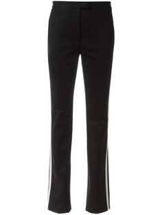 RED VALENTINO striped side slim-fit trousers. #redvalentino #cloth #trousers