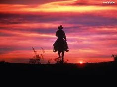 ride off into the sunset on a horse
