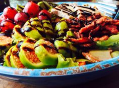 Food Fitness by Paige: Fig Avocado Bacon Salad with Brie and Balsamic Gla...