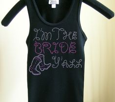 This sparkly rhinestone T-shirt is for y'all country brides!