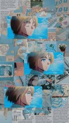 Aot Wallpaper, Anime Wallpaper Phone, Anime Backgrounds Wallpapers, Animes Wallpapers, Armin, Eren E Levi, Anime Ai, Cartoon As Anime, Anime Guys