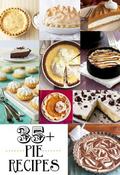35+ Thanksgiving Pie Recipes. Such a great collection! {lilluna.com}