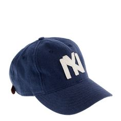 Ebbets Field Flannels® for J.Crew twill ball cap - hats & scarves - Men's bags & accessories - J.Crew