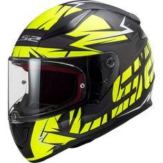 Κράνος #LS2 FF353 Rapid Cromo Matt Black-H-V Yellow Black Neon, Neon Yellow, Black N Yellow, Blue, Ls2 Helmets, Full Face Motorcycle Helmets, Visors, Dark, Products