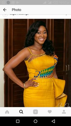 Short African Dresses, African Blouses, African Fashion Dresses, African Wear, African Attire, African Women, African Print Fashion, Africa Fashion, Traditional Wedding
