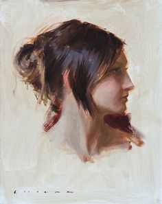 """Sonja"" oil on linen. 14x11"" 2012 by Casey Childs"