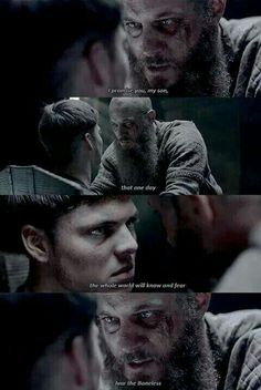 Ragnar And Ivar  #vikings #son #Ivarboneless #boneless #Ragnar #lothbrok #season4 #ivar