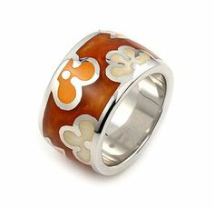 Sterling Silver Brown Resin Designo Ring - RingSize 7 LusterForever. $81.39. Save 48%!