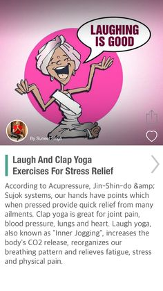 Laugh And Clap Yoga Exercises For Stress Relief - via @CureJoy