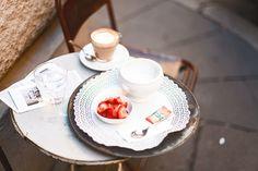 Breakfast in Rome, photo by Faye Bullock www.farfelue.com