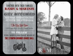 Country Get Hitched Wedding Invitation and RSVP by PalmettoPrints, $28.00