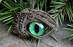 Gothic Steampunk Sable Evil Eye Pendant with by twistedsisterarts, $59.95