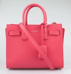 4c8d5b16b7 NWT SAINT LAURENT PARIS Light Rose Sac De Jour Grained Leather Handbag   2650