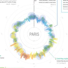 Weather Radials Poster - Paris