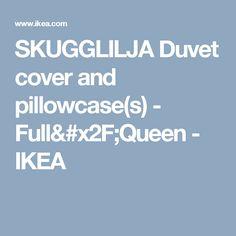 SKUGGLILJA Duvet cover and pillowcase(s) - Full/Queen  - IKEA