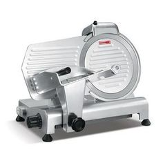 Presto Anodized Aluminum Meat Slicer, Belt Drive Transmission, Blade, Width x Height x Depth from Presto Black Friday Cyber Monday Commercial Appliances, Commercial Kitchen, Kitchen Tools, Kitchen Gadgets, Kitchen Appliances, Kitchen Products, Small Appliances, Kitchen Items, Kitchen Utensils