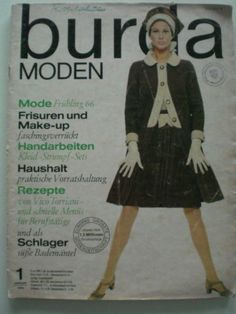 BURDA Moden Zeitschrift Januar 1966 - mit Schnittbögen | eBay