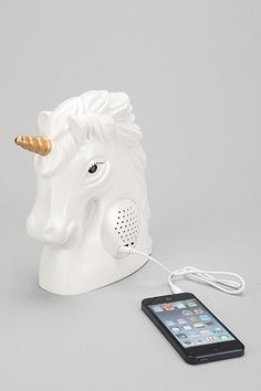 Unicorn Portable Speaker - Urban Outfitters-Yup, I'm gonna need this. Real Unicorn, Unicorn Gifts, Magical Unicorn, Rainbow Unicorn, Unicorn Party, Unicorn Rooms, Unicorn Bedroom, Unicorn Room Decor, Unicorns And Mermaids