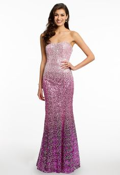 Ombre Sequin Prom Dr