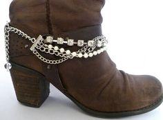 Baby Jane Sugar Crystal Twist Boot Bracelet by BootBooti on Etsy