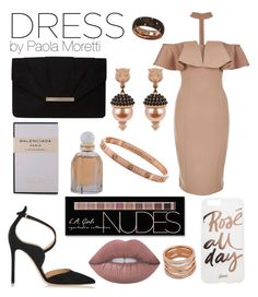 """""""Style Dress by Paola Moretti"""" by paola-moretti on Polyvore featuring Rare London, Gianvito Rossi, Dorothy Perkins, Sonix, Gucci, Damiani, Lime Crime, Charlotte Russe and Balenciaga"""