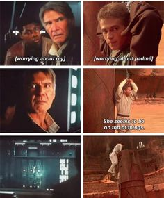 Padme and Rey :) Oh well Rey must have gotten her climbing skills from Padme