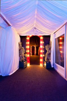 Ensure guests arrive in style by starting your theme from the moment they arrive!