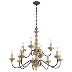 Austin Allen & Company Zoe Collection 6-light French Antique Chandelier | Overstock.com Shopping - The Best Deals on Chandeliers & Pendants