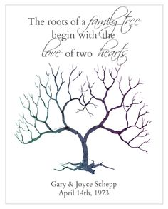 Wedding Thumbprint Tree!