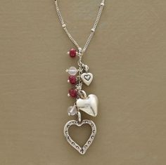 heart trio necklace