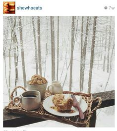 hot breakfast & snow...perfect!