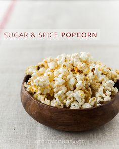 Sugar & Spice Popcorn from @Liren Baker   Kitchen Confidante
