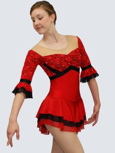 red figure skating dress - Google Search