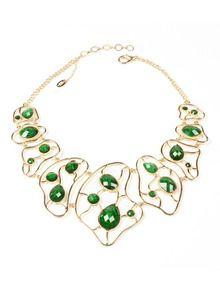 Amrita Singh  Sag Harbour Cutout Bib Necklace