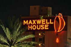Maxwell House Neon - Night by esywlkr, via Flickr
