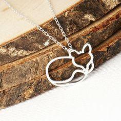Sleepy Fox Necklace - necklaces & pendants
