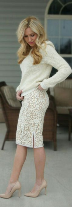 Lace Mini Skirt / Fashion by Get Your Chic On