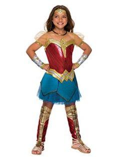 Rubies Costume Girls Justice League Premium Wonder Costume I want to be wonder woman for halloween she is incredible! #DCcomics #wonderwoman #halloween #halloween2017 #superhero