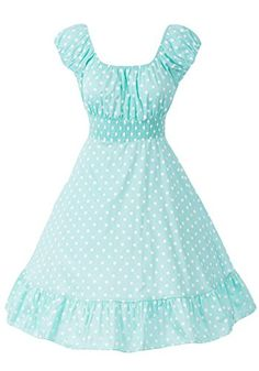Sidecca Retro 1950s Polka Dot Smock Swing Dress-Mint-Small Sidecca http://www.amazon.com/dp/B00PV6P05S/ref=cm_sw_r_pi_dp_Rfalvb0KXJVET