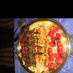 Homemade grilled beef & chicken Persian Kabobs w homegrown veggies #yum #raz