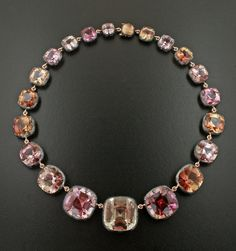 Tourmaline Silver and 18K Rose Gold Necklace by James de Givenchy #Taffin #JamesdeGivenchy #Necklace