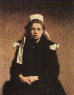 Gallery of the masters fine art listed by country and alphabetically-A Young Breton Girl, Roderic O Connor Breizh Ma Bro, Irish Painters, Lily And Val, City Gallery, Dublin City, Irish Art, Post Impressionism, Hat Hairstyles, Online Collections