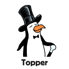 """Topper is one of the family of penguins to find in """"Zoo Escape"""", one of the search-and-find jigsaw puzzles I'm offering on Kickstarter. The image first appeared in my book """"Where's the Penguin?"""". Follow the link for more info.  #searchandfind #jigsawpuzzle #jigsaw #puzzle #childrensbook #kidlit #wheresthe #seekandfind #cartoon #cartoonart #seekandfind  #zoo #animals #penguin #tophat #posh #cane #oligarch #bowtie #upperclass #boss #toff #topper"""