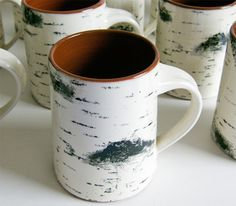 Birch Bark Coffee Mu