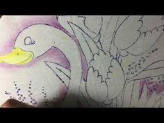Pintura En Tela Cisne #1 Con Cony - YouTube