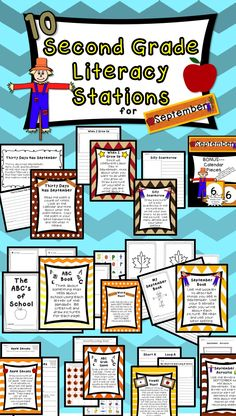 Fun & Engaging Literacy Stations for Second Graders!!!!!!