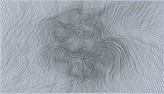 Linn Meyers, drawing on graph paper
